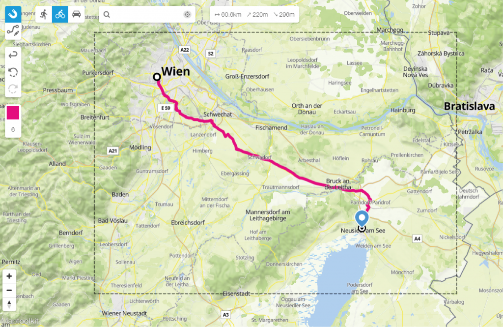 crear un mapa con rutas