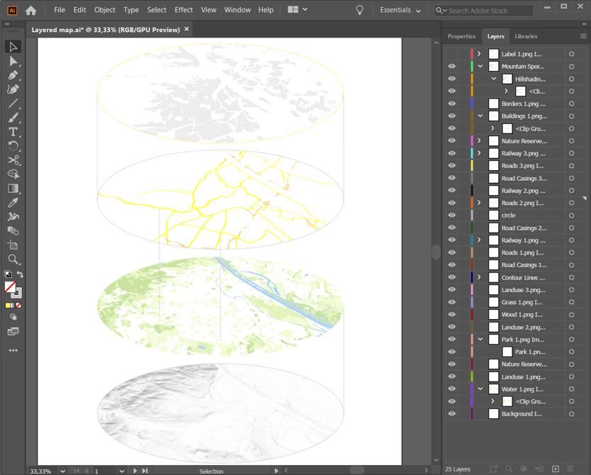 layered map